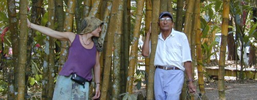 Jenny Pell learning from a Mayan elder